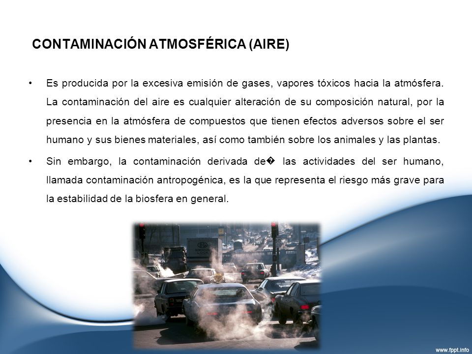 CONTAMINACIÓN ATMOSFÉRICA (AIRE)