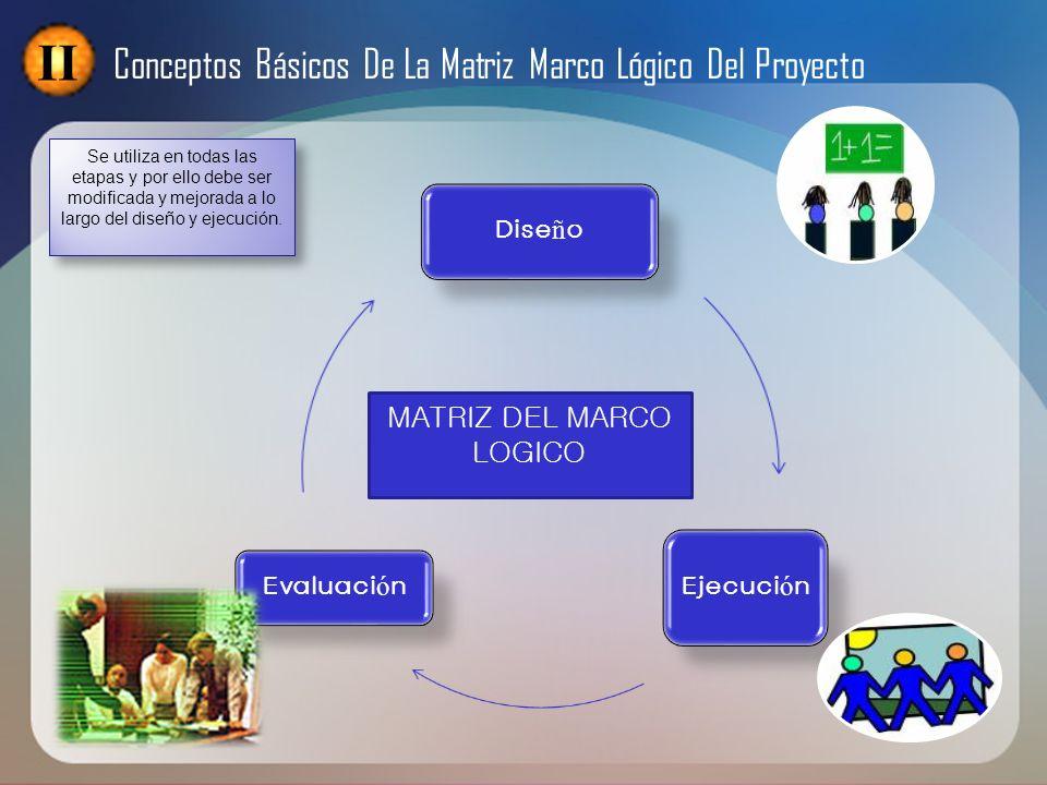 II Conceptos Básicos De La Matriz Marco Lógico Del Proyecto