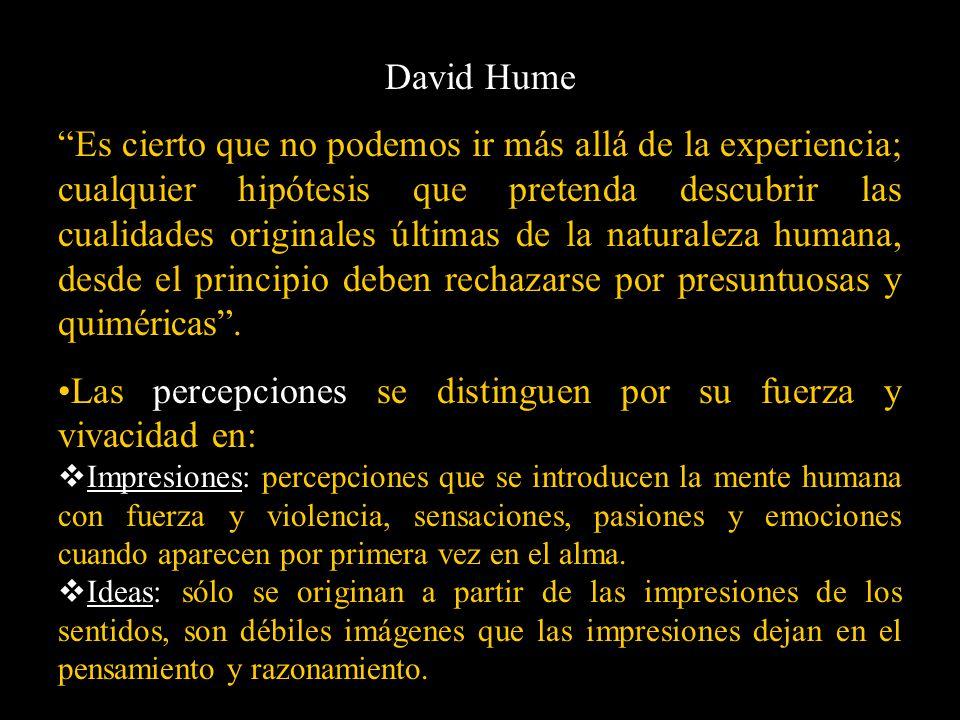 Las percepciones se distinguen por su fuerza y vivacidad en: