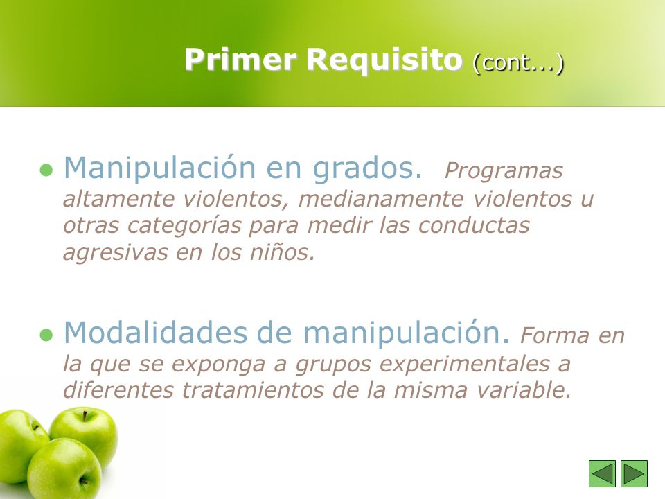 Primer Requisito (cont...)