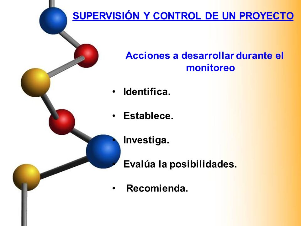 SUPERVISIÓN Y CONTROL DE UN PROYECTO
