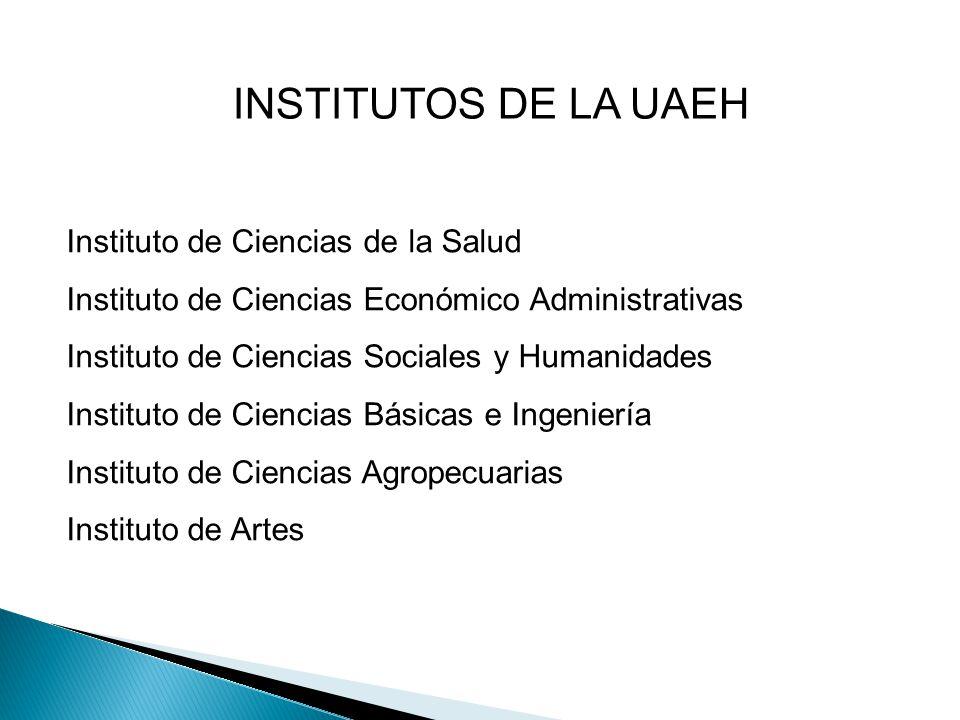 INSTITUTOS DE LA UAEH Instituto de Ciencias de la Salud