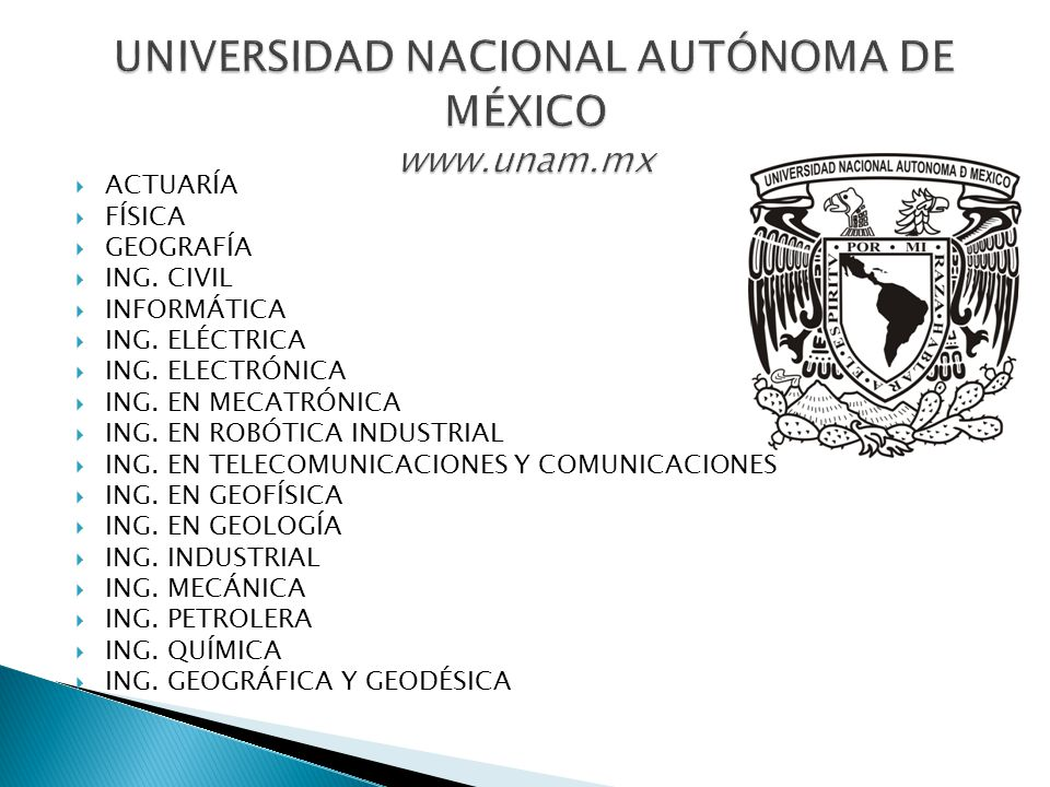 UNIVERSIDAD NACIONAL AUTÓNOMA DE MÉXICO www.unam.mx