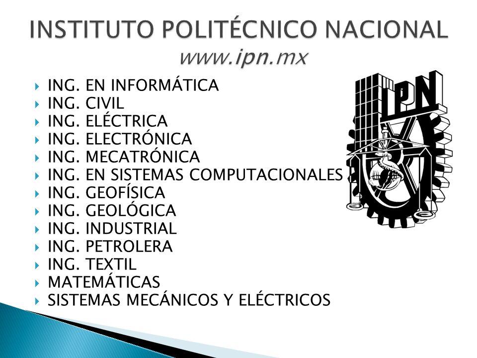 INSTITUTO POLITÉCNICO NACIONAL www.ipn.mx