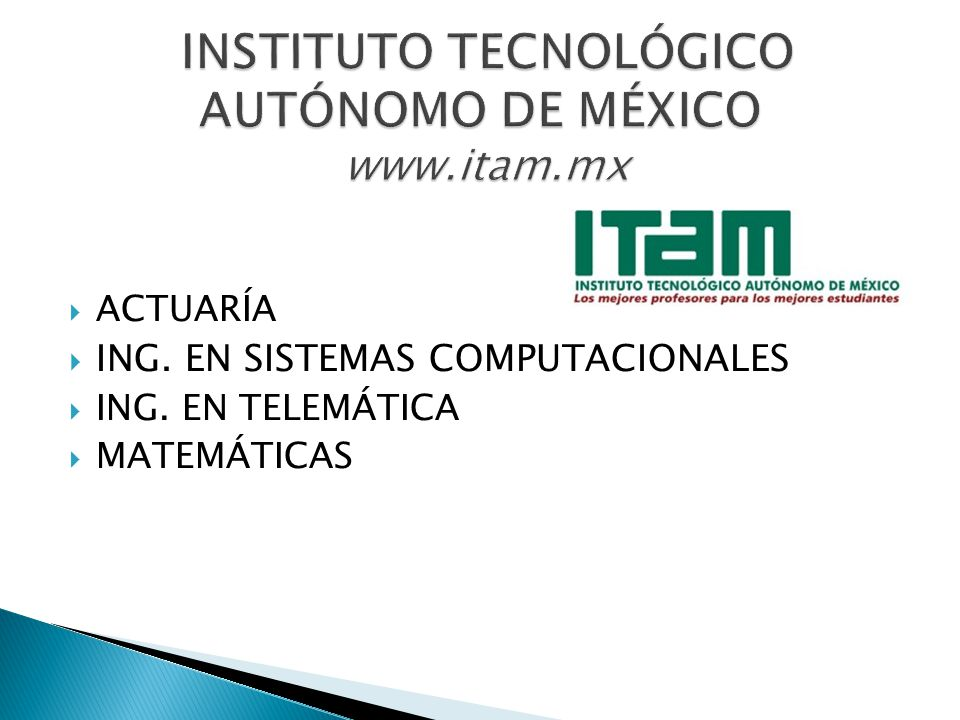 INSTITUTO TECNOLÓGICO AUTÓNOMO DE MÉXICO www.itam.mx