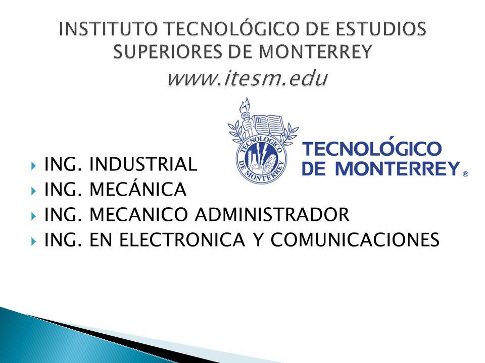 INSTITUTO TECNOLÓGICO DE ESTUDIOS SUPERIORES DE MONTERREY www. itesm