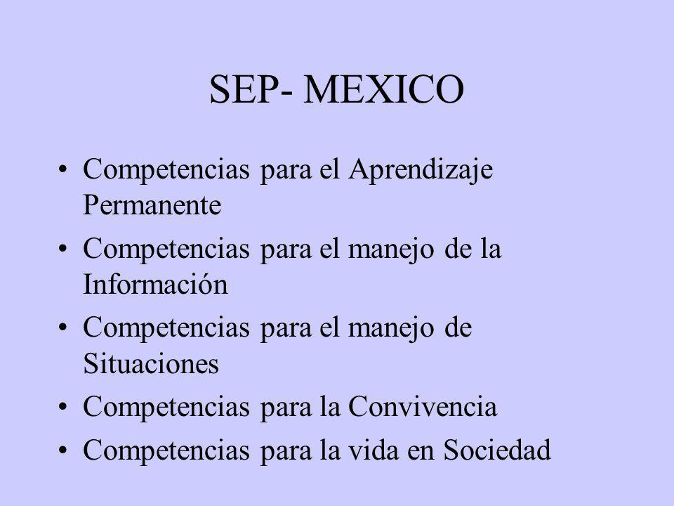 SEP- MEXICO Competencias para el Aprendizaje Permanente