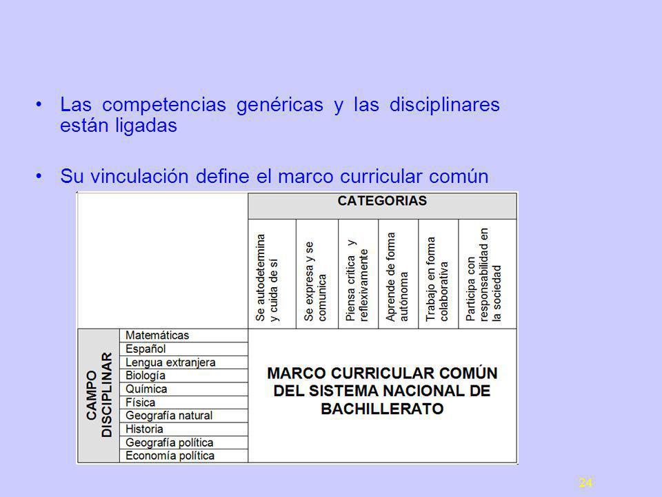 Las competencias genéricas y las disciplinares están ligadas
