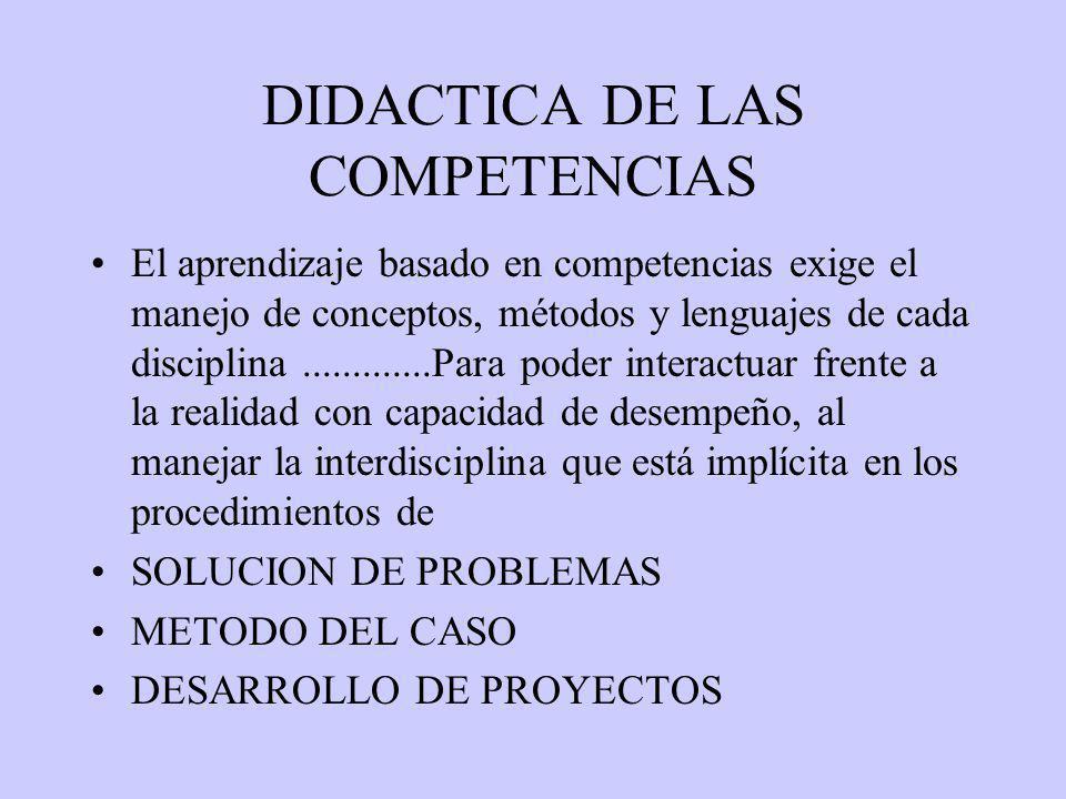DIDACTICA DE LAS COMPETENCIAS