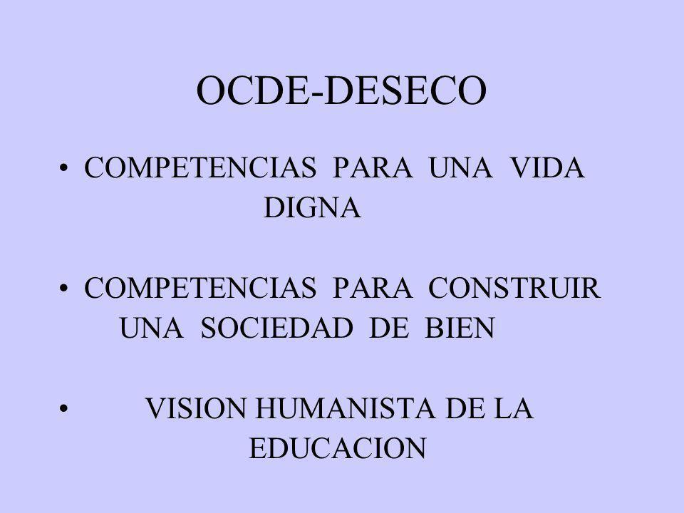 OCDE-DESECO COMPETENCIAS PARA UNA VIDA DIGNA