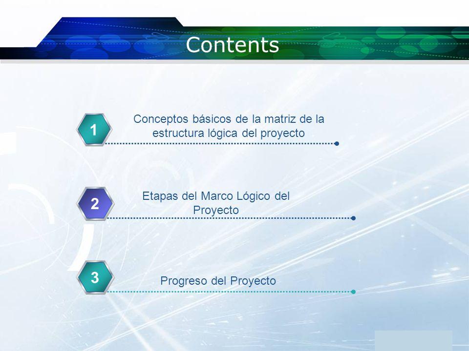 www.themegallery.com Contents. Conceptos básicos de la matriz de la estructura lógica del proyecto.