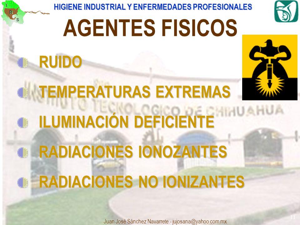 AGENTES FISICOS RUIDO TEMPERATURAS EXTREMAS ILUMINACIÓN DEFICIENTE