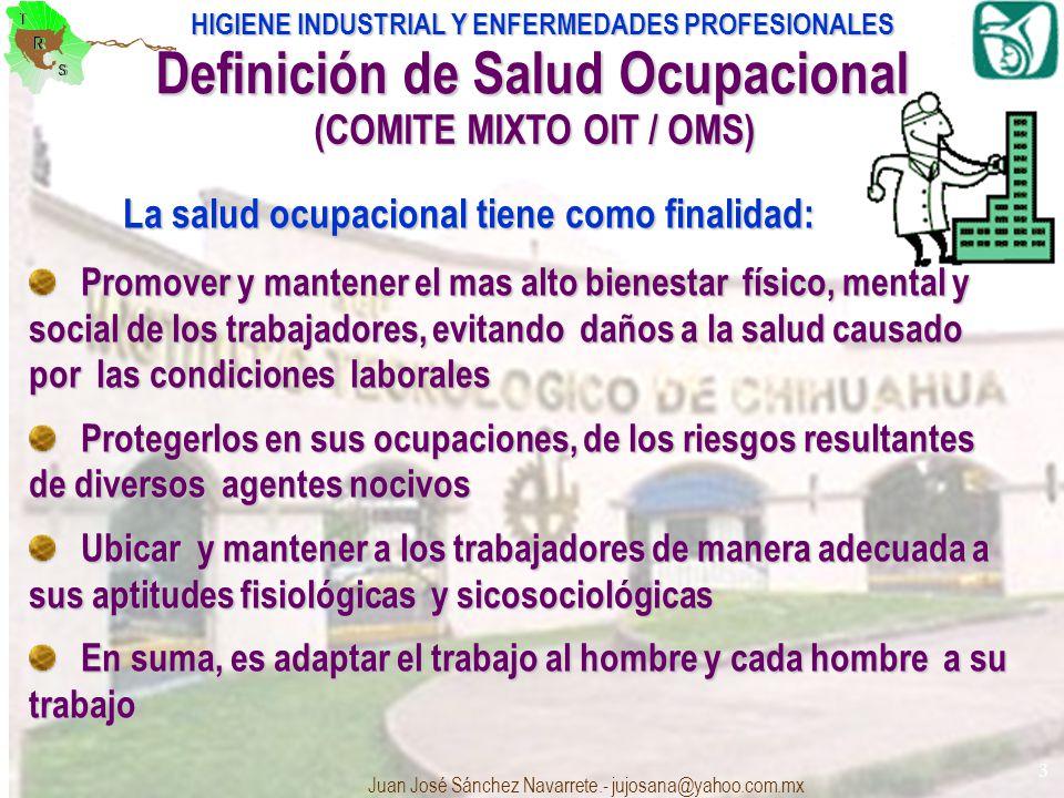 Definición de Salud Ocupacional