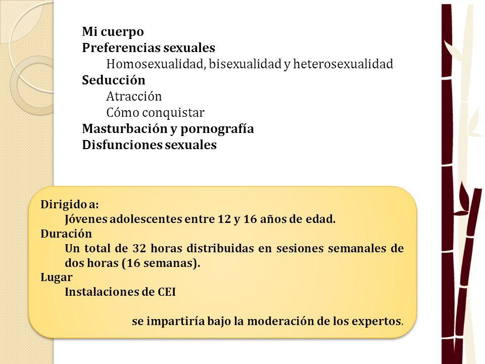 Preferencias sexuales Homosexualidad, bisexualidad y heterosexualidad