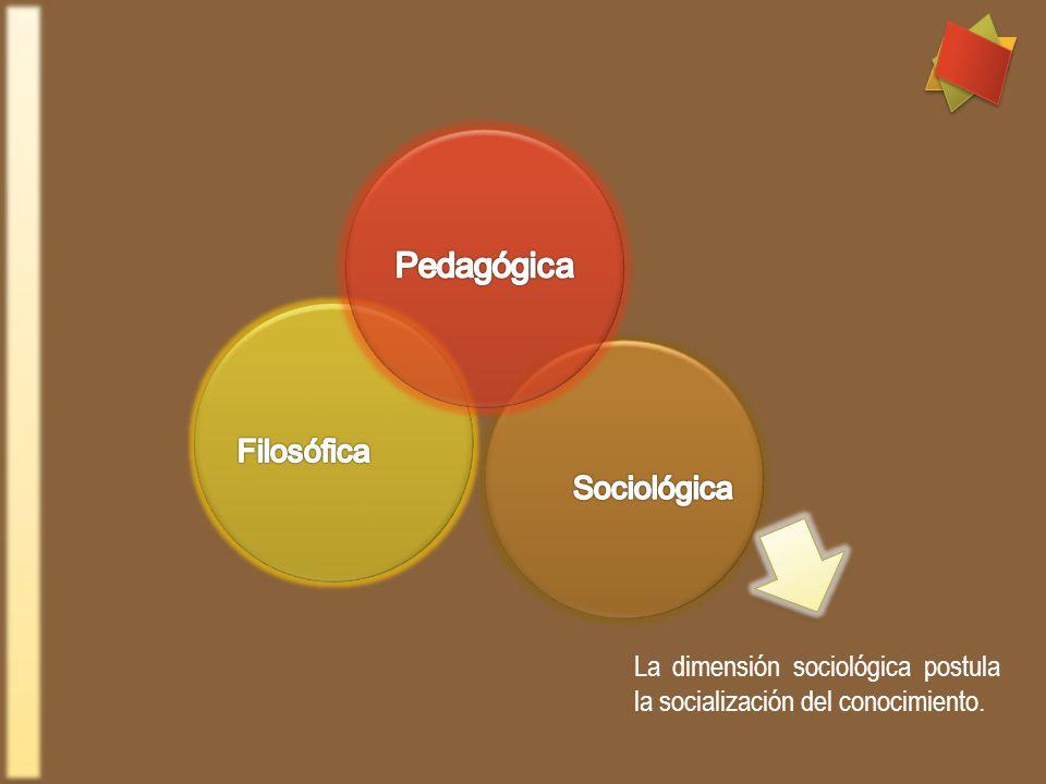 Pedagógica Filosófica Sociológica
