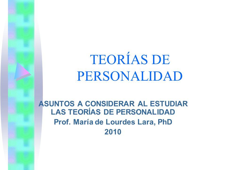 TEORÍAS DE PERSONALIDAD