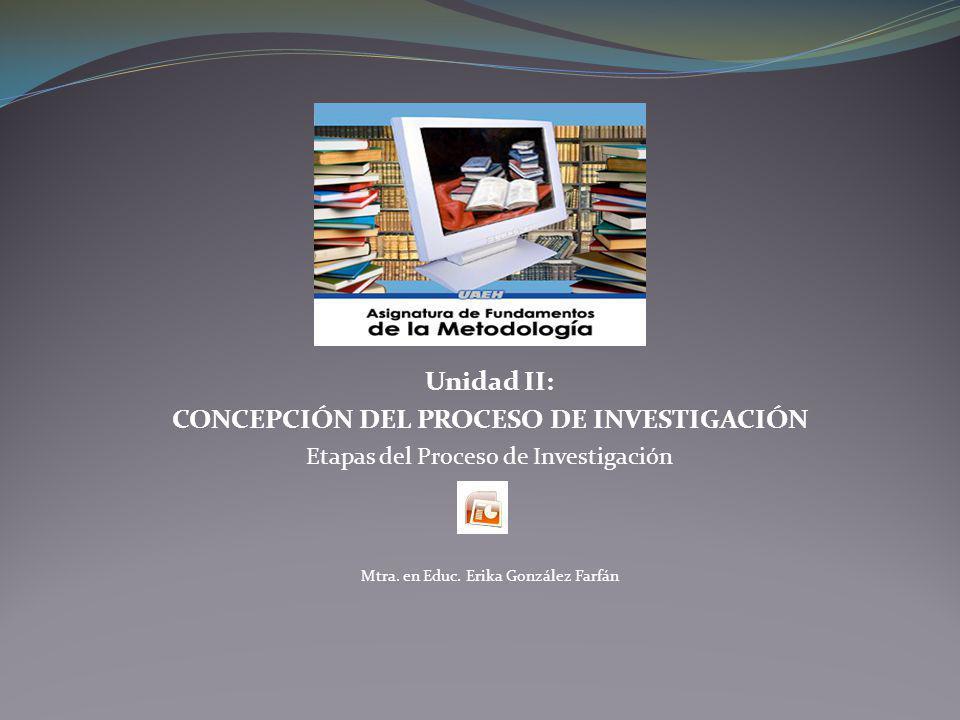 CONCEPCIÓN DEL PROCESO DE INVESTIGACIÓN