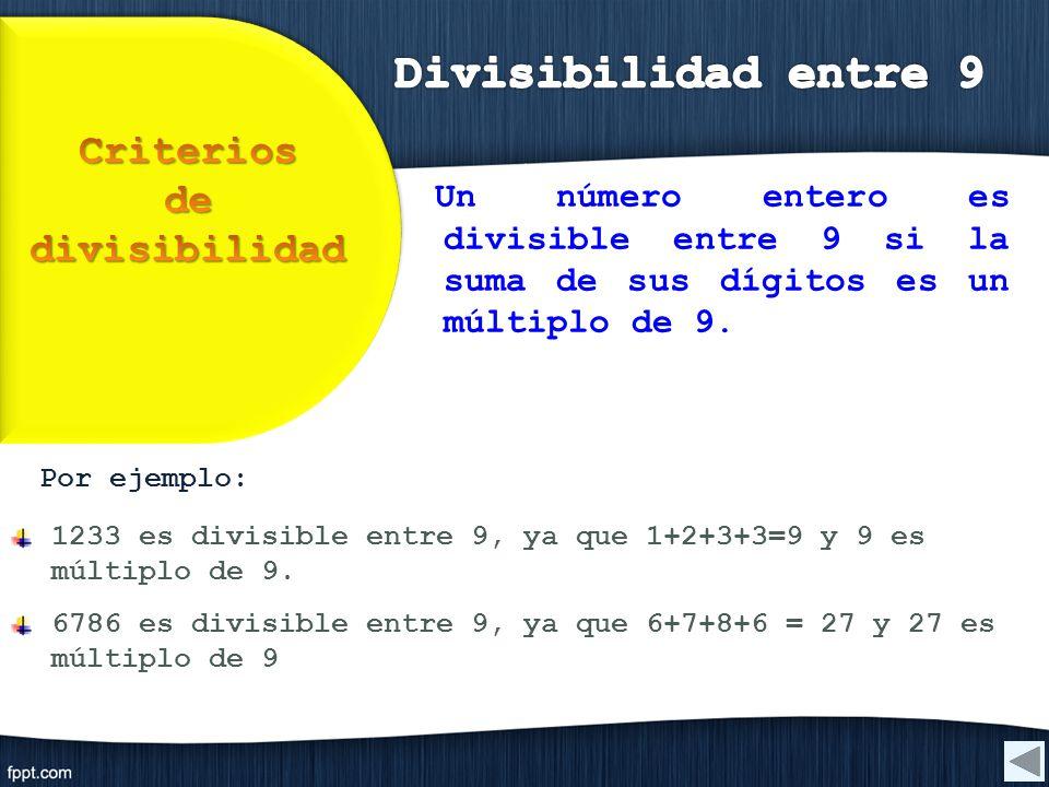 Criterios de divisibilidad