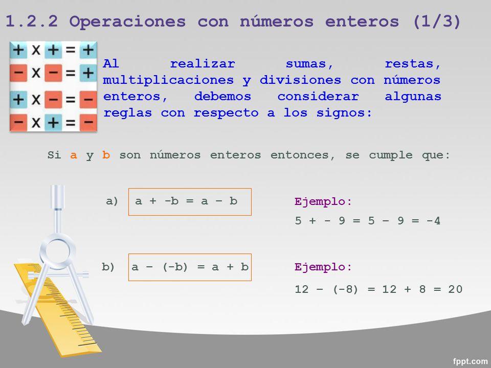 1.2.2 Operaciones con números enteros (1/3)