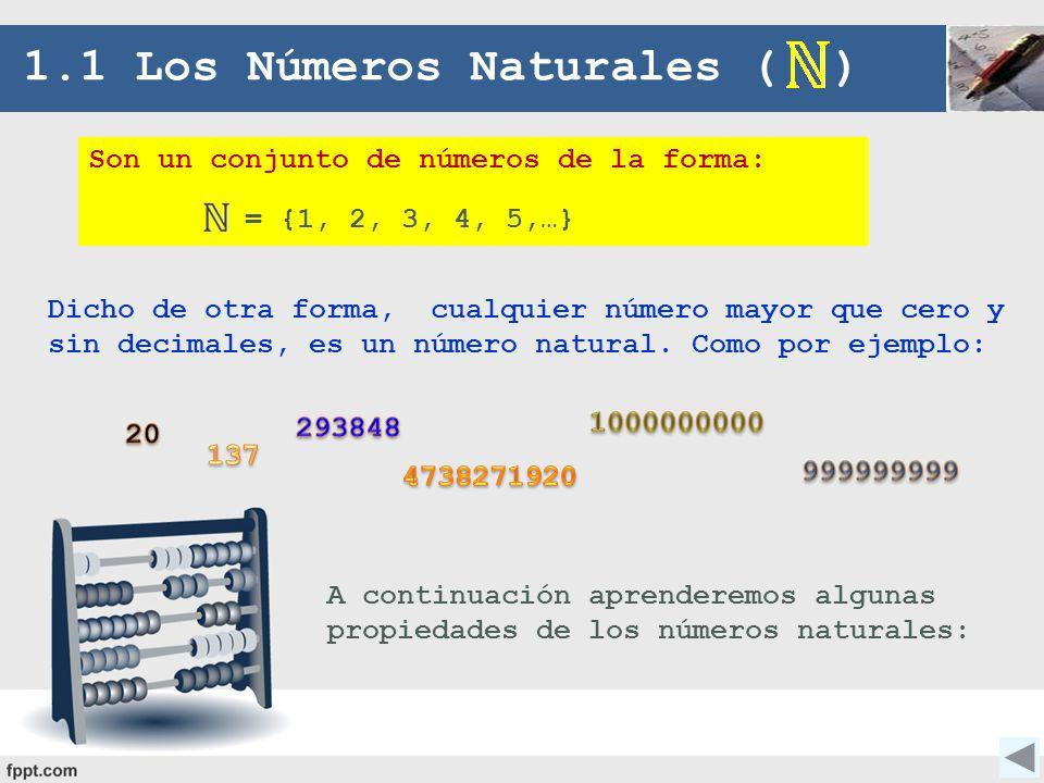 1.1 Los Números Naturales ( )