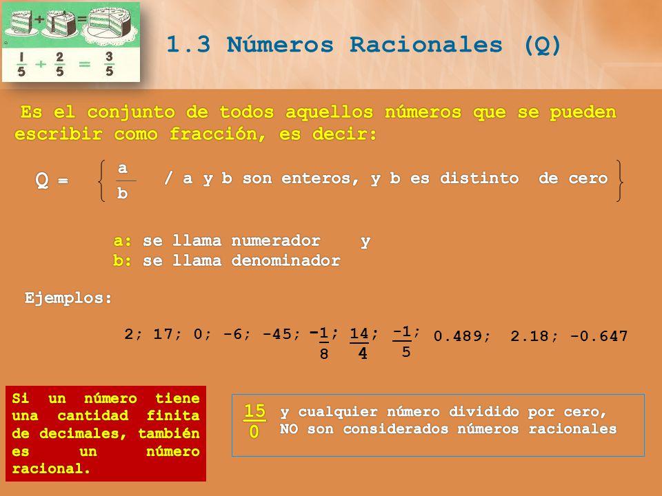 1.3 Números Racionales (Q)