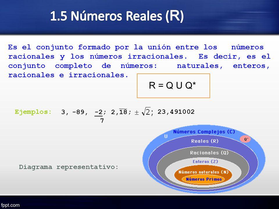 1.5 Números Reales (R) R = Q U Q*