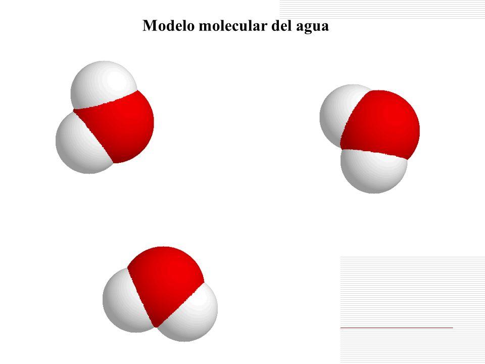 Modelo molecular del agua