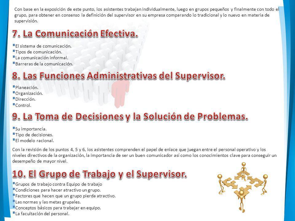 7. La Comunicación Efectiva.