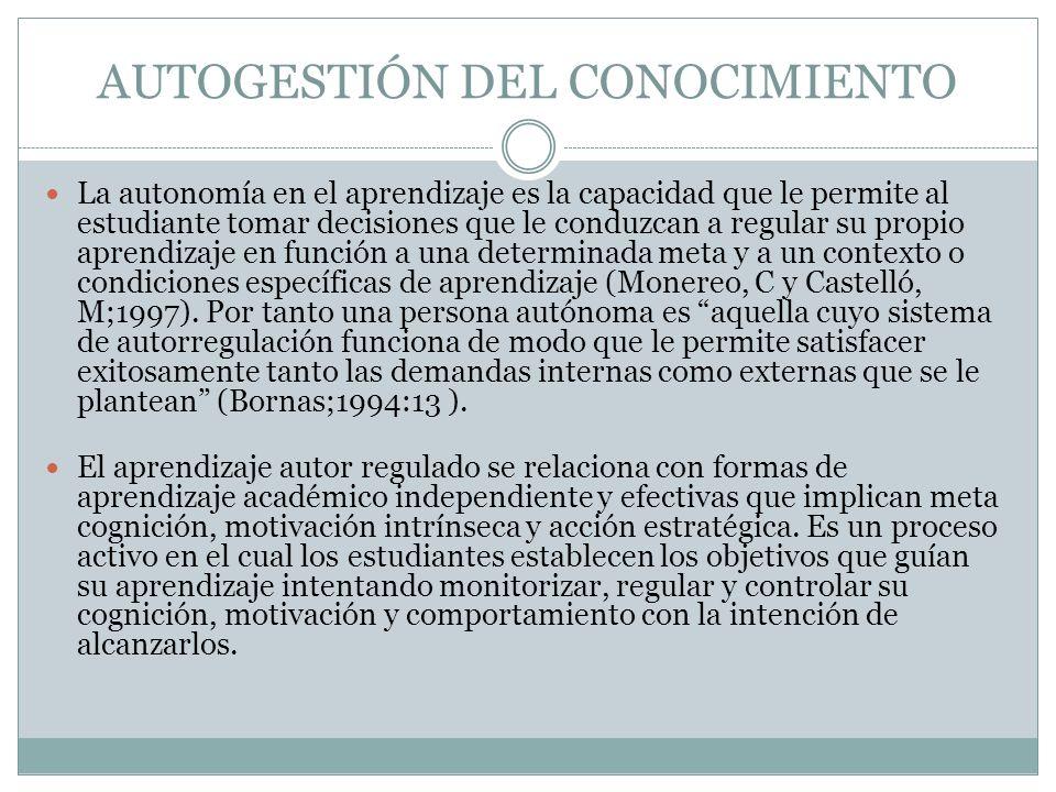 AUTOGESTIÓN DEL CONOCIMIENTO