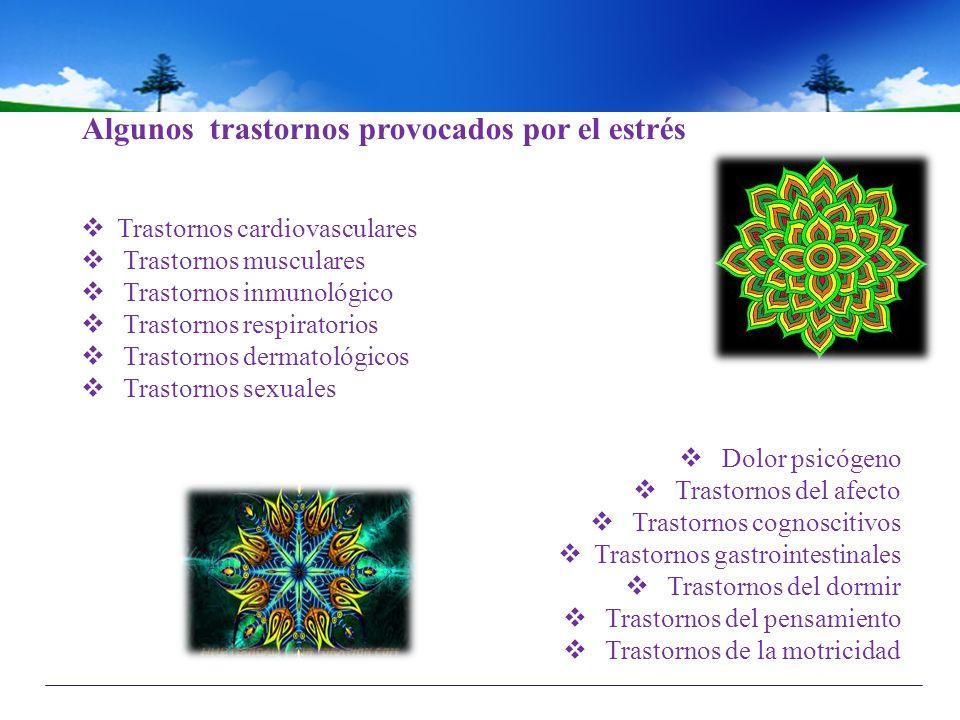 Algunos trastornos provocados por el estrés