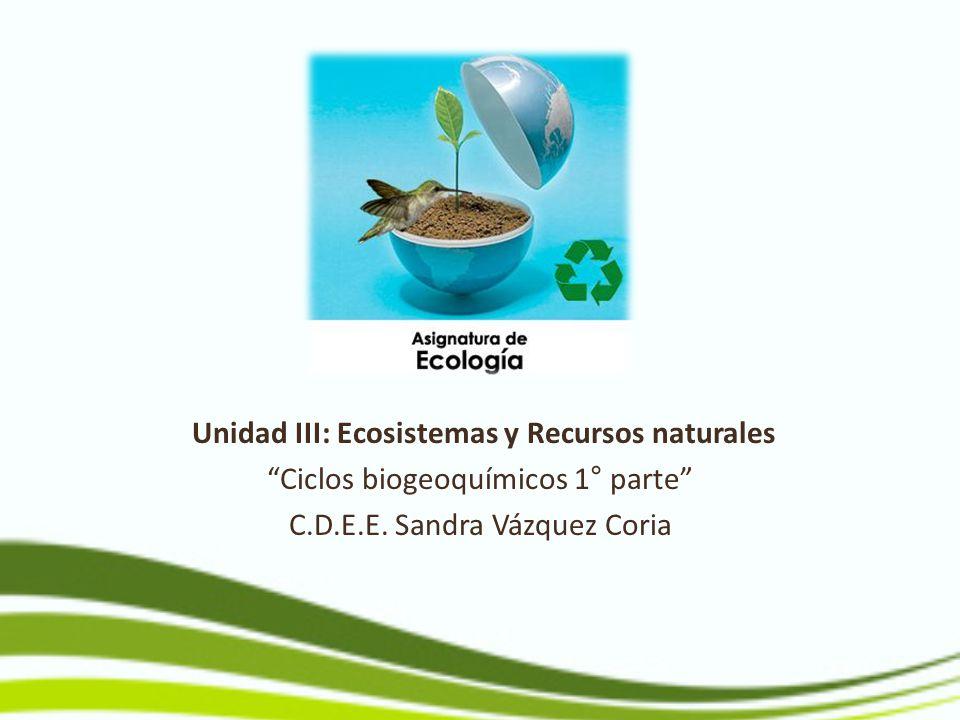 Unidad III: Ecosistemas y Recursos naturales