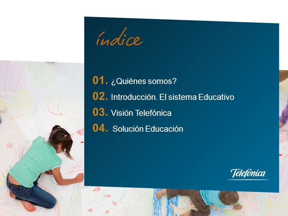 01. ¿Quiénes somos. 02. Introducción. El sistema Educativo.