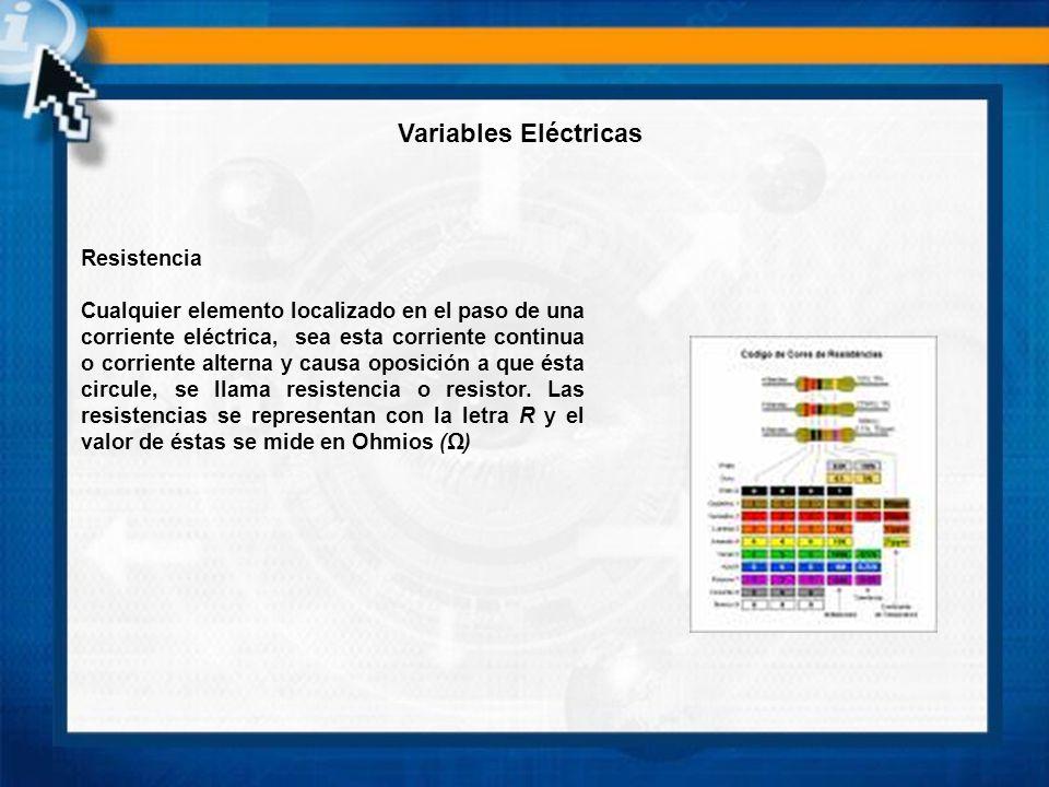 Variables Eléctricas Resistencia
