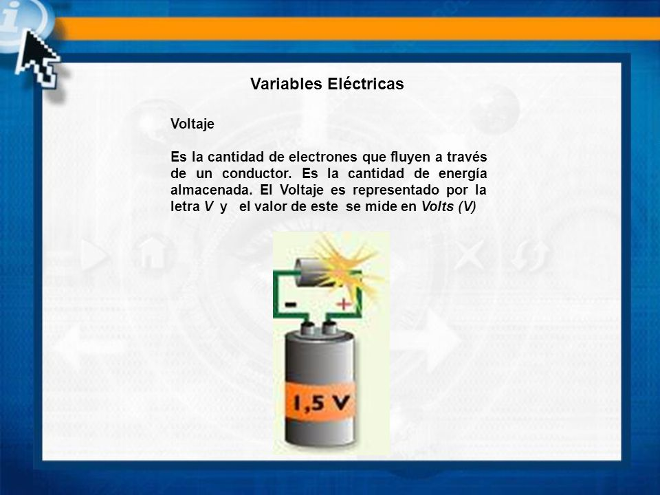 Variables Eléctricas Voltaje