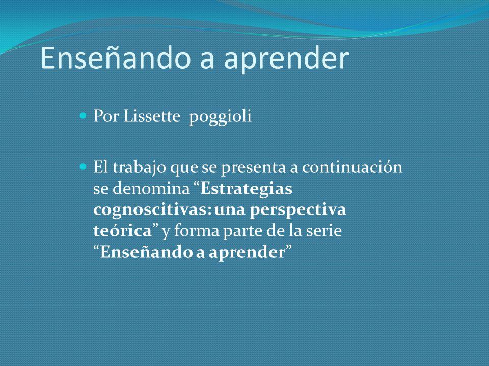 Enseñando a aprender Por Lissette poggioli
