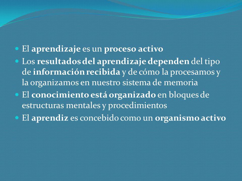 El aprendizaje es un proceso activo