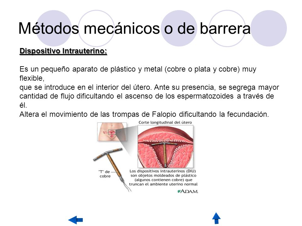 Métodos mecánicos o de barrera