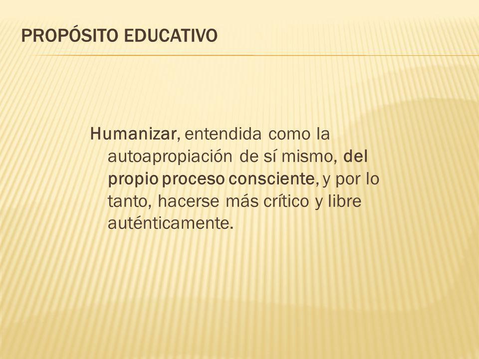 PROPÓSITO EDUCATIVO