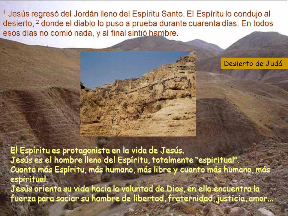 1 Jesús regresó del Jordán lleno del Espíritu Santo