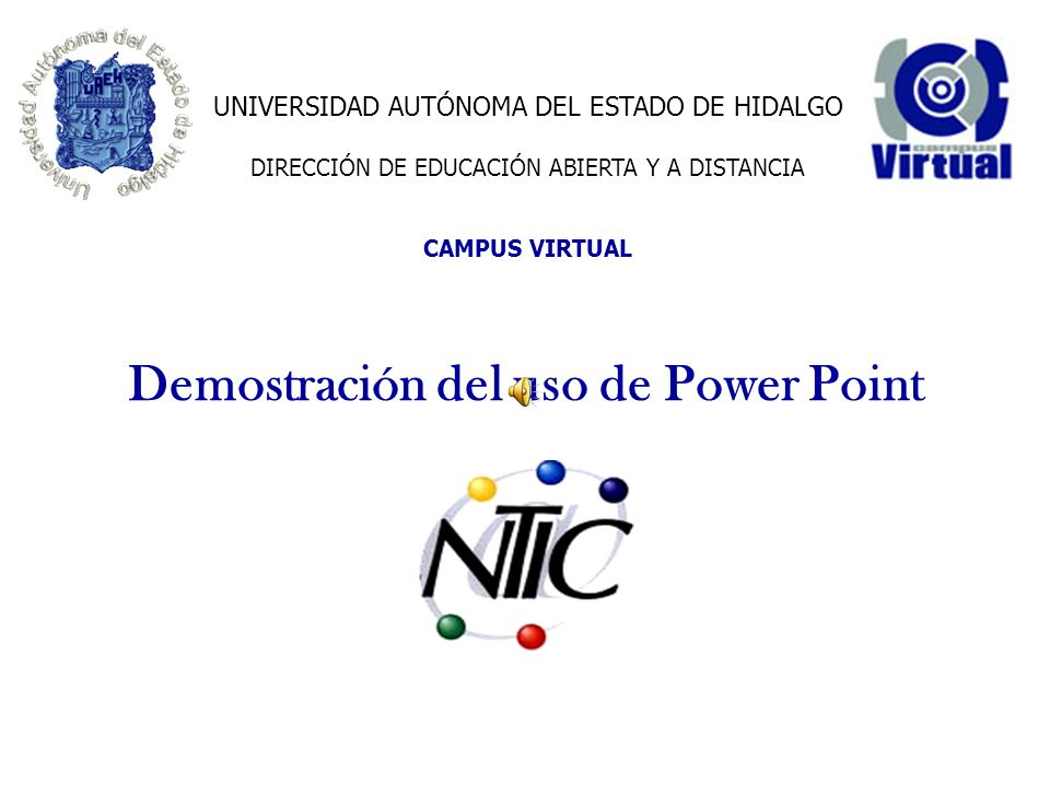 Demostración del uso de Power Point