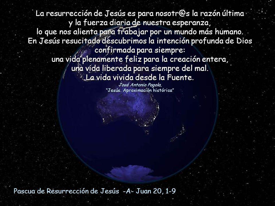 La resurrección de Jesús es para nosotr@s la razón última
