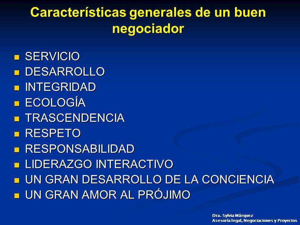 Características generales de un buen negociador