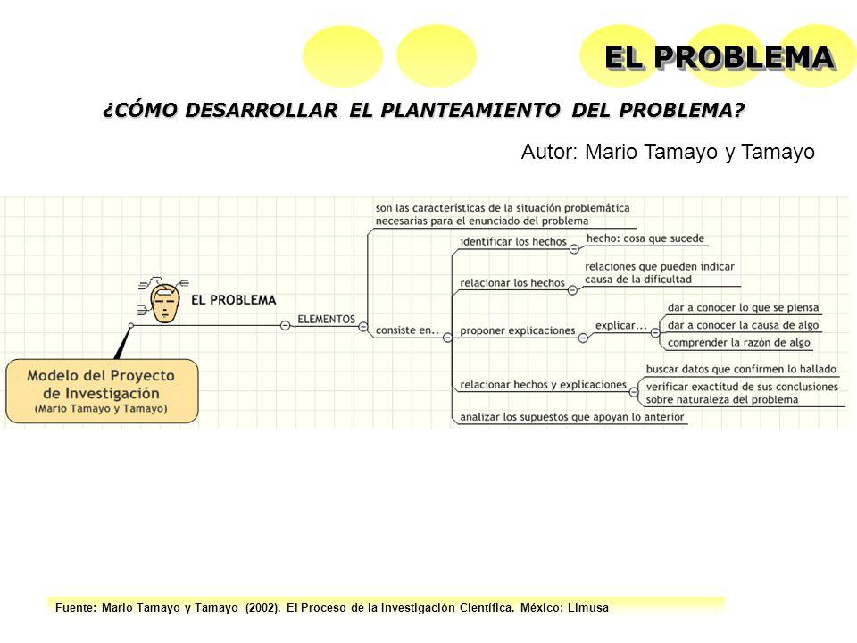 EL PROBLEMA Autor: Mario Tamayo y Tamayo