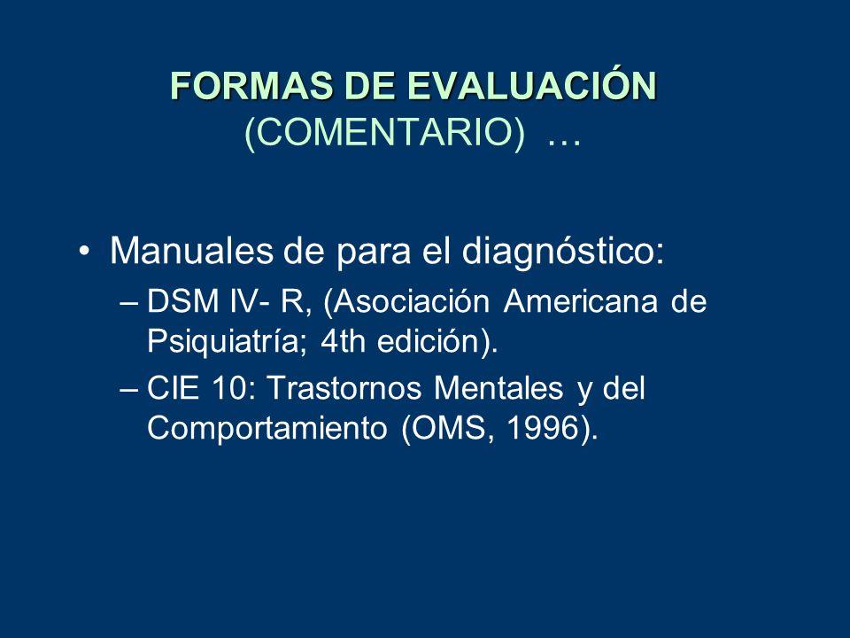 FORMAS DE EVALUACIÓN (COMENTARIO) …