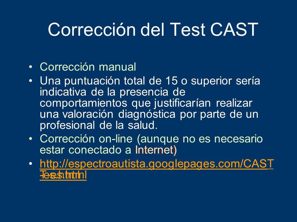Corrección del Test CAST
