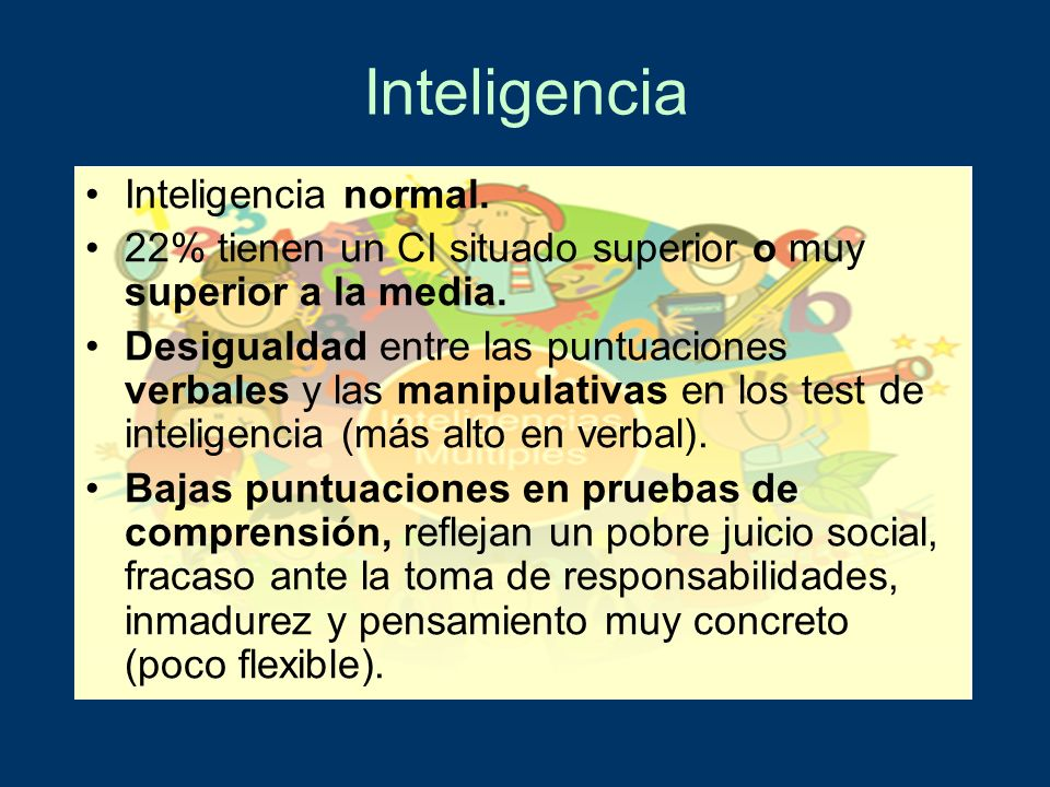Inteligencia Inteligencia normal.