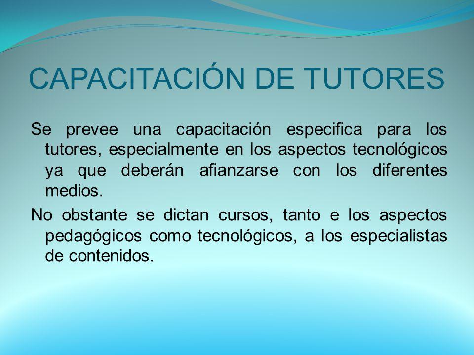 CAPACITACIÓN DE TUTORES