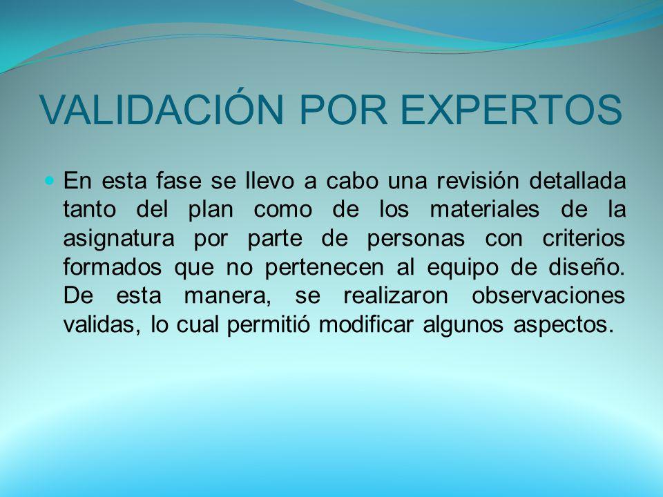 VALIDACIÓN POR EXPERTOS
