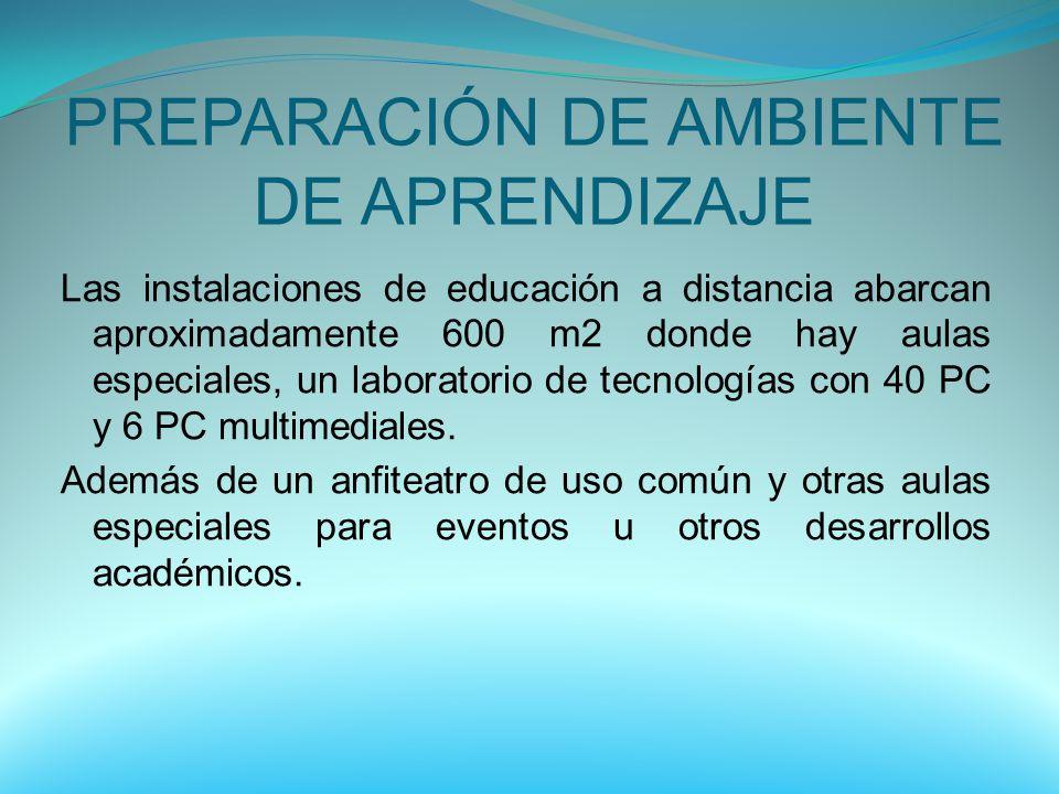 PREPARACIÓN DE AMBIENTE DE APRENDIZAJE