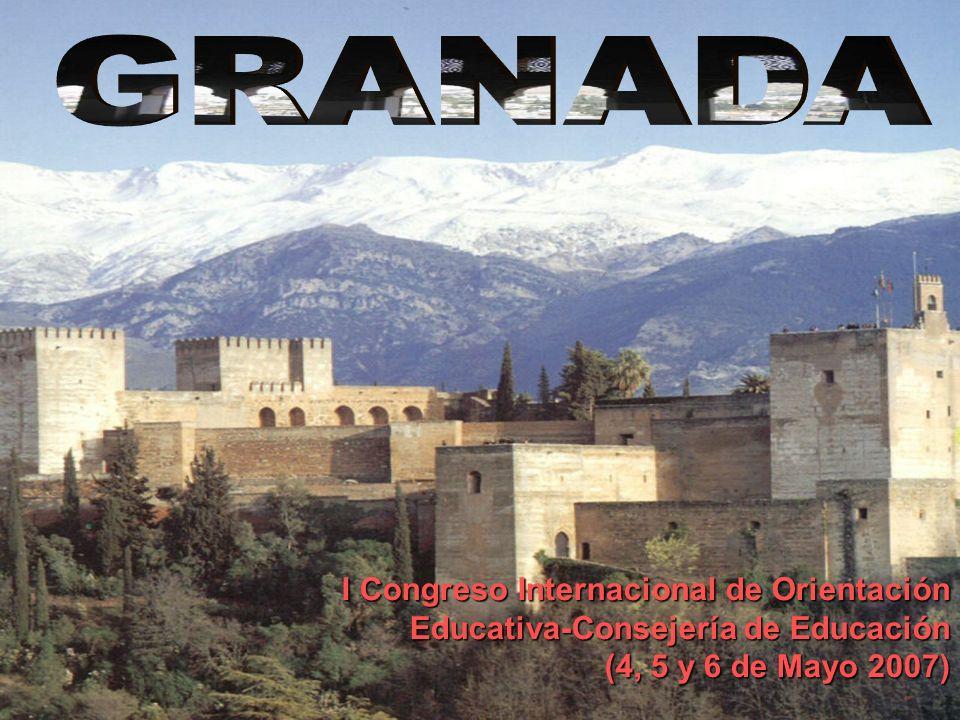 GRANADA I Congreso Internacional de Orientación Educativa-Consejería de Educación.
